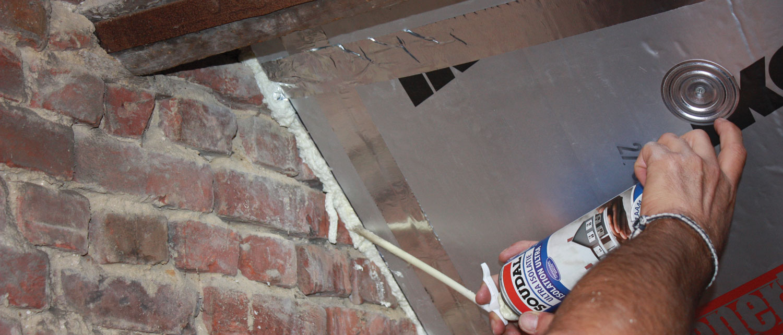 PU Foam in roofing insulation